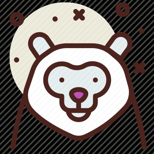 alaskan, bear, snow, winter icon