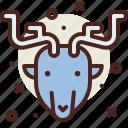 elk, snow, winter icon