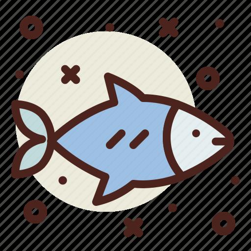 fish, salmon, snow, winter icon