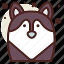husky, snow, winter icon