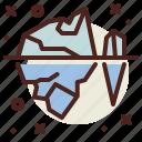 iceberg, snow, winter icon