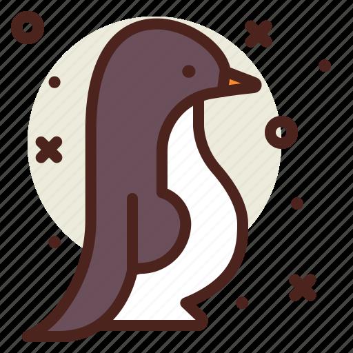 penguin, snow, walking, winter icon