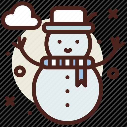 snow, snowman, winter icon