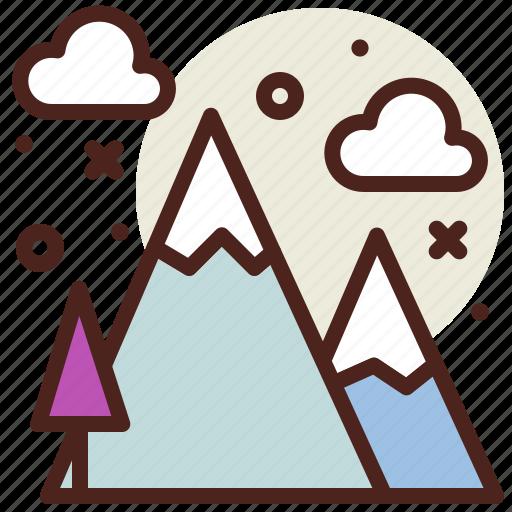 mountains, snow, snowy, winter icon