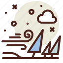 snow, wind, winter icon
