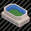 american, arena, cartoon, football, isometric, soccer, sport