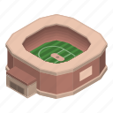 cartoon, football, isometric, logo, soccer, sport, stadium