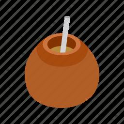 argentina, drink, isometric, latin, mate, tea, traditional icon