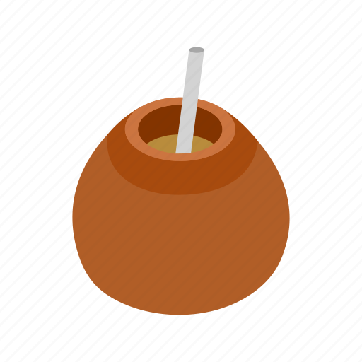 argentina, drink, isometric, latin, mate, tea, traditional icon