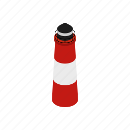 argentina, isometric, lighthouse, patagonia, sea, south, ushuaia icon
