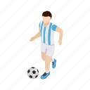 argentina, background, isometric, nation, player, soccer, team icon