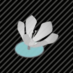 background, beautiful, beauty, blossom, flower, isometric, lotus icon