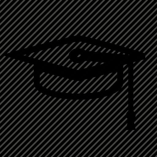 academics, acheivement, cap, college, diploma, doctorate, education, graduate, graduation, milestone, mortarboard, school, tassle, university icon