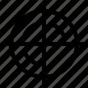 aim, army, bulls eye, circle, military, navy, war icon