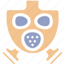 army, gas, mask, military, outdoor, protection, war icon