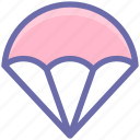 air, air balloon, army, fly, glider, hot air balloon, military icon