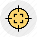 aim, army, bulls eye, military, navy, target, war icon