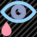 army, crying, drop, eye, hurt, tear, tears icon