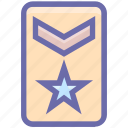 army, army badge, badge, force badge, rank, soldier, star icon