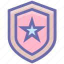 army, badge, military, police, sheriff, star, war icon