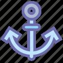 anchor, marine, navy, sea, ship, shipping, voyage icon
