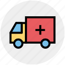 army, equipment, medical truck, medical van, military, transport, vehicle icon