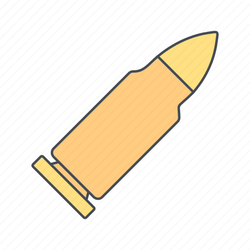 bullet, military, shot icon