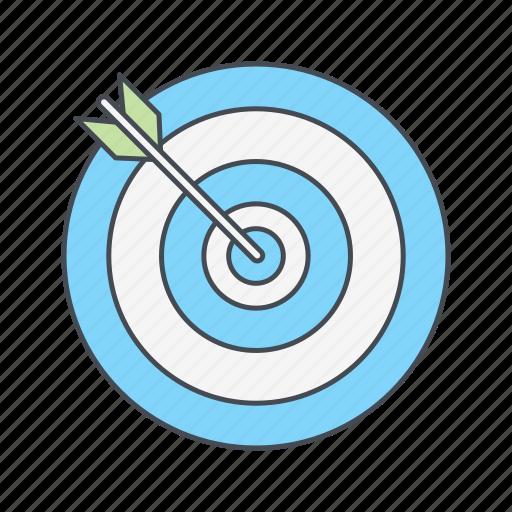 aim, bullseye, dart, goal, target icon