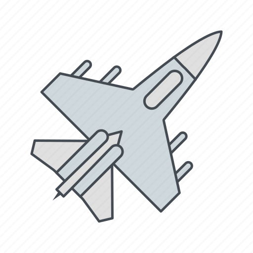 aircraft, airplane, fighter jet, jet, war icon