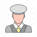 lieutenant, rank, soldier icon