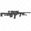 army, automatic, mashine, snipper, terrorist, weapon icon