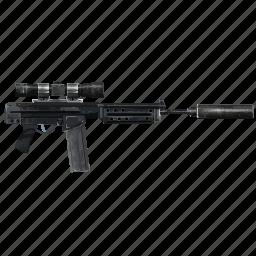 army, gun, quiet, shooting, snipper, terrorist, weapon icon