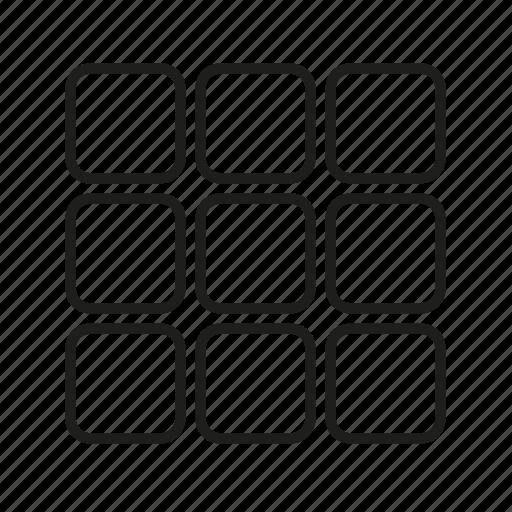grid, menu, minimal, ui icon