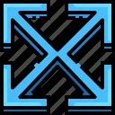 arrow, direction, expand, fullscreen, interface, navigation