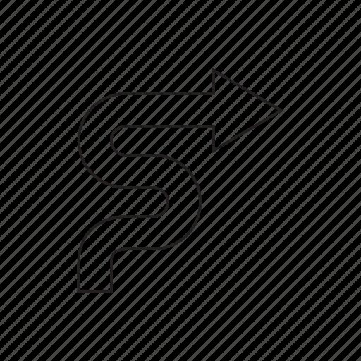 arrow, curve, direction, next, right, way, zigzag icon