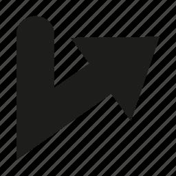 arrow, cursor, direction, navigation, pointer icon