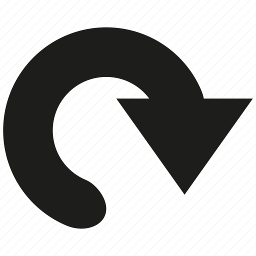 arrow, cursor, direction, navigation, pointer, reload icon