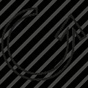 arrow, direction, way