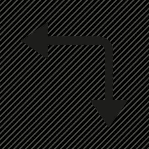 arrow, cursor, direction, way icon