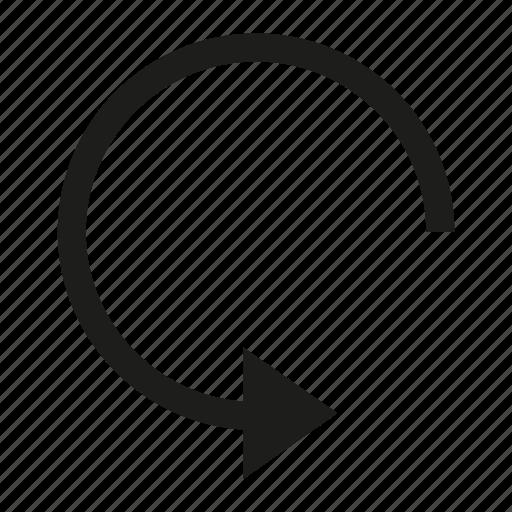 arrow, circle, cursor, direction, loading, reload icon