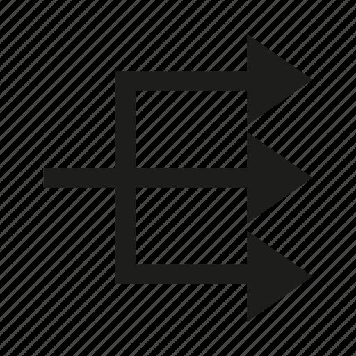 arrow, conjunction, crossroad, cursor, direction icon