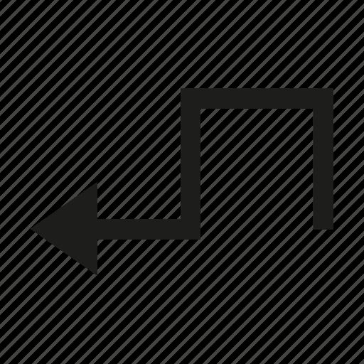 arrow, cursor, direction, zigzag icon