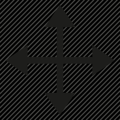 arrow, conjunction, cross, crossroad, cursor, direction icon