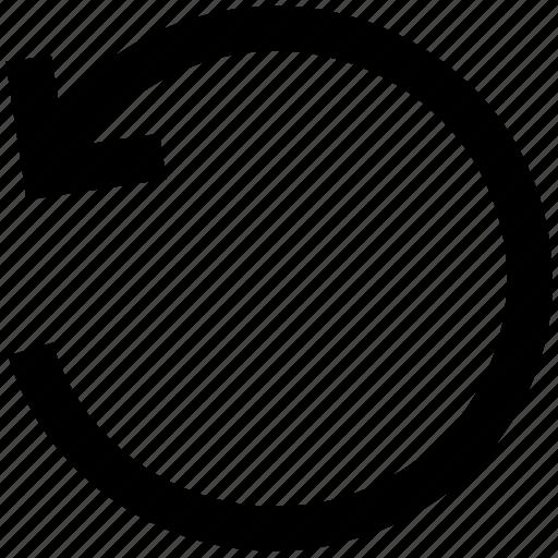 .svg, arrow, circle, left, line, rotate icon