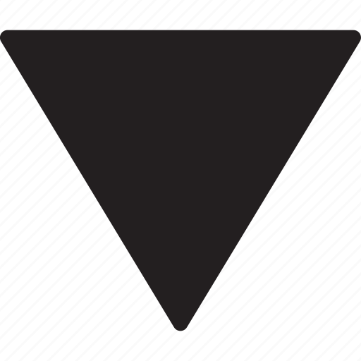 arrows, direction, directional, down arrow, interface, multimedia option, triangle icon