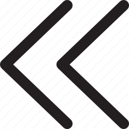 arrows, chevron, music player, rewind, video player icon
