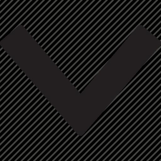 arrow, descendant, descending, direction, down, down arrow, pointing icon