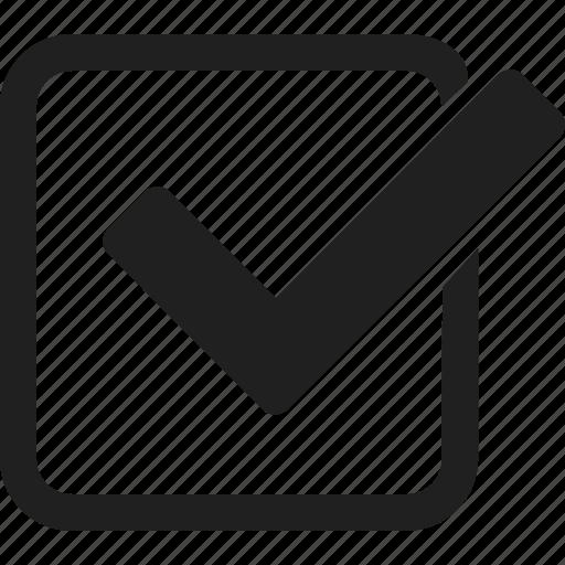 checked, interface, success, tick, ui icon