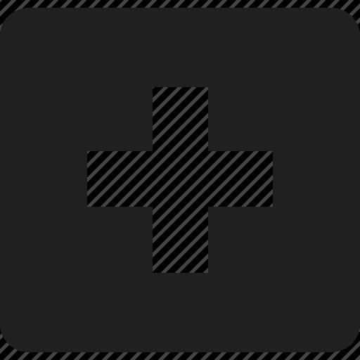 add, interface, mathematics, maths, plus, shapes and symbols, signs icon