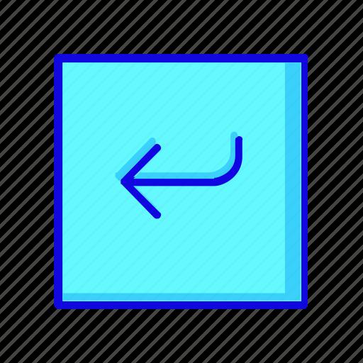 arrow, arrows, direction, left, navigation, previous, square icon